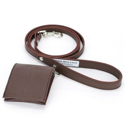dog leather leash brown