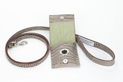 dog leashes printed brown cocco