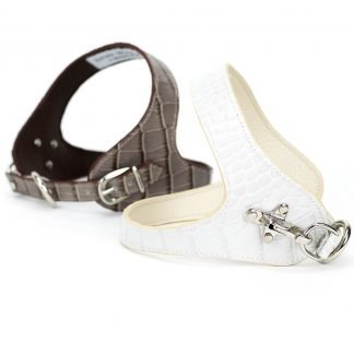 leather dog harness in various colours