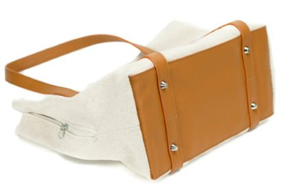 canvas dog carrier with leather bottom