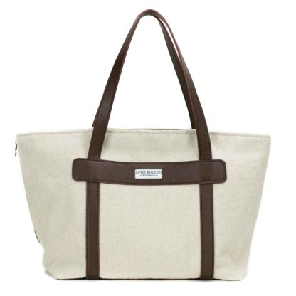 canvas dog carrier with canvas brown